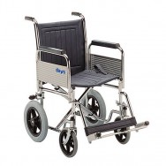 Extra Heavy-Duty Steel Transit Wheelchair with fixed back