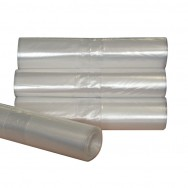 Clear Plastic Sacks On a Roll