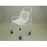 Adjustable Height Mobile Utility Shower Chair