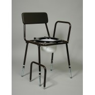 Adjustable Height Stackable Commode (Detach Arms)