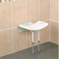 Wall Mounted Shower Seat with drop down Legs